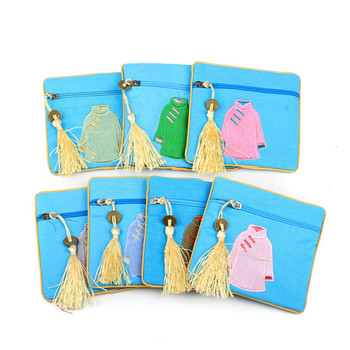 11.5*11.5cm Chinese Style Jewelry Pouches Zipper Gifts Bags Cotton Linen Coin Purse Packaging Bag tangimp stripes cotton wristlets bags japanese style handbags linen tote simple coin purse for gift original big capacity 2018