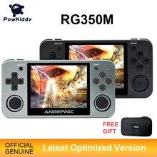Powkiddy RG350 Console di gioco portatile RG350M Console a conchiglia in metallo sistema Open Source schermo IPS da 3.5 pollici giochi 3D Arcade Ps1 retrò