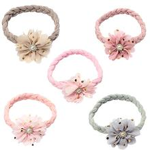 Floral Chinese Knot Baby Headbands For Girls Elastic Handmade Sequins Fashion Hairband Soft  Newborn Hair Accessories New