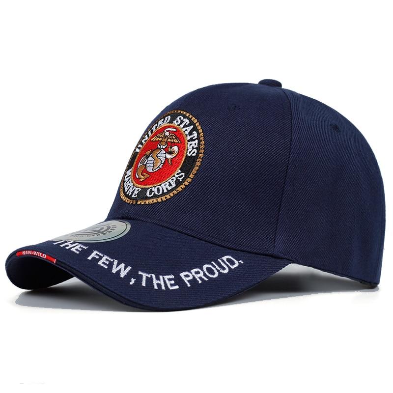 2019 United States Marine Corps Tactical Bone Baseball Cap Men Navy Seals Hat For Adult Size 56-59cm