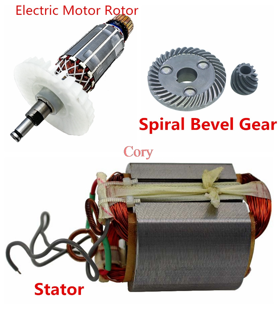 1PC For Makita 9523B Angle Grinder Electric Motor Rotor/Stator/Spiral Bevel Gear AC 220V Angle Grinder Replacement