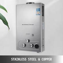 Calentador de agua de propano y Gas Natural, caldera instantánea sin tanque con cabezal de ducha y pantalla LCD, 12L LPG