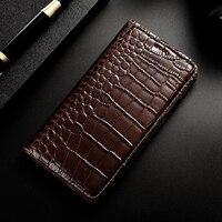 Crocodile Pattern Genuine Leather Case For Vodafone Smart Pro 7 Mini 7 Prime 6 7 Platinum 7 Luxury Mobile Phone Cases