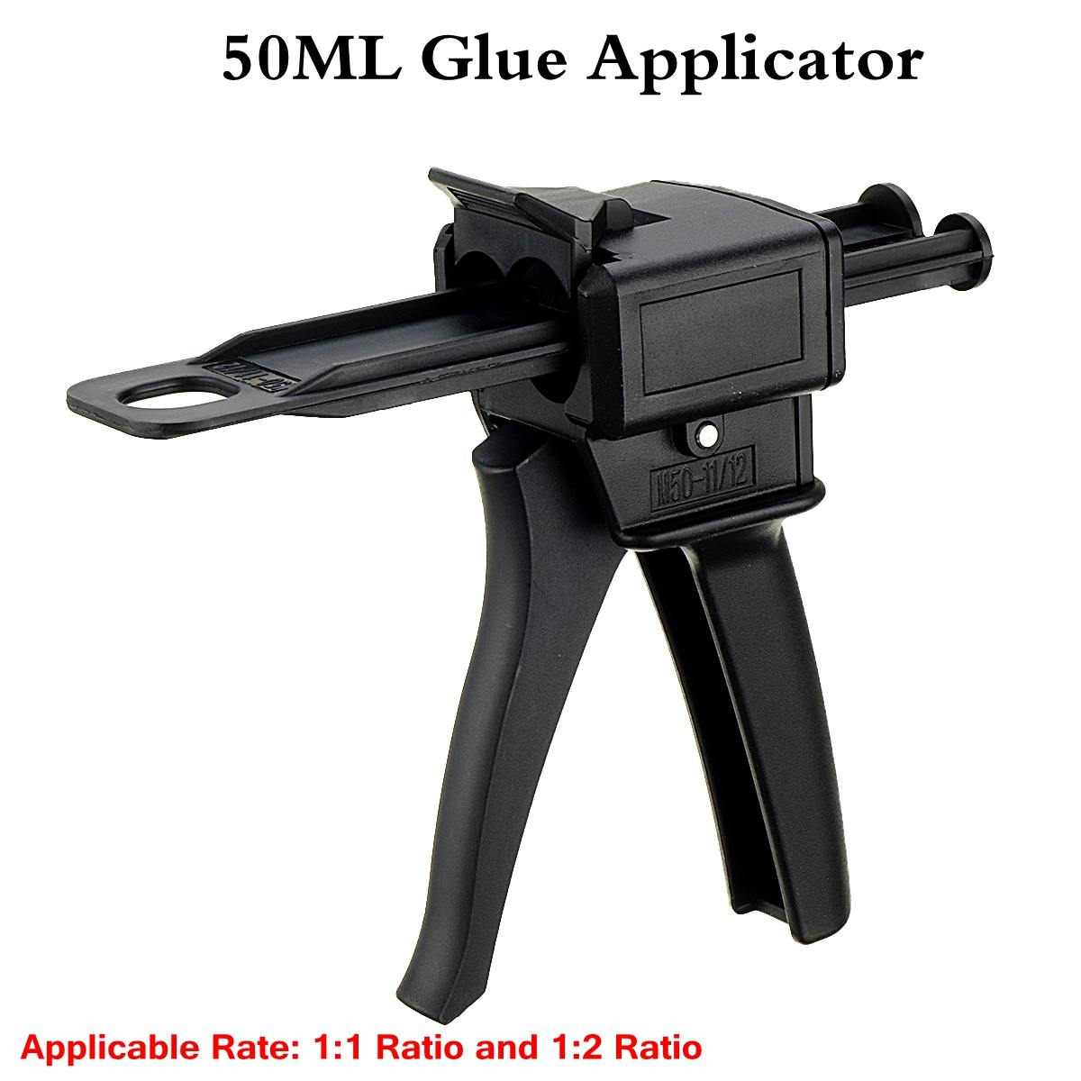 Glue Guns 50ml Two Component AB Epoxy Sealant Glue Applicator Glue Adhensive Squeeze Mixed 1:1/1:2 Manual Glue Applicator