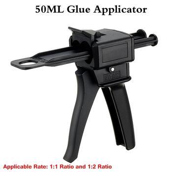 Glue Guns 50ml Two Component AB Epoxy Sealant Glue Applicator Glue Adhensive Squeeze Mixed 1:1/1:2 Manual Glue Applicator
