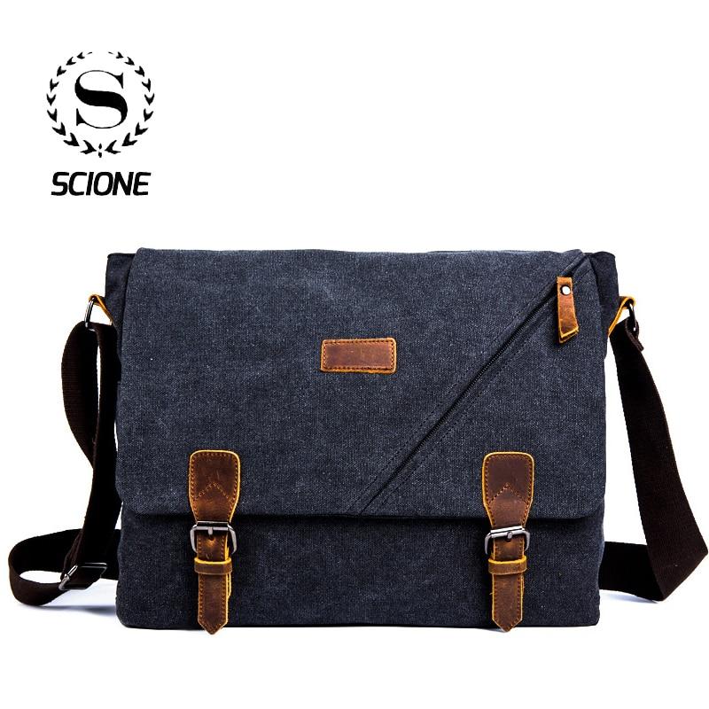 Pure Leather Vintage Messenger Bag Shoulder Men School Briefcase Women/'s