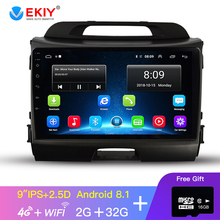 EKIY 9» 2.5D IPS Car Radio For Kia Sportage 2010-2015 Car Multimedia Video Player Navigation GPS Android 8.1 No 2din Dvd
