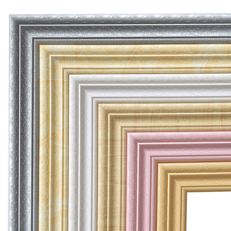 Wall Trim Line Skirting Border 3D Pattern Sticker Decor Self Adhesive Waterproof Strip _WK