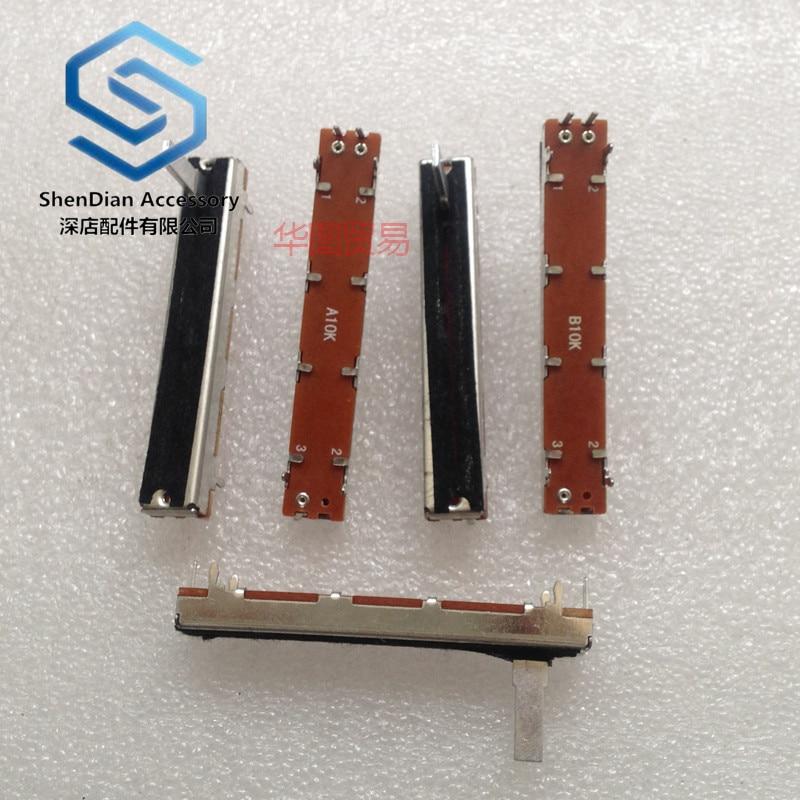 1pcs 100% New SC4521n A10k B10k 60mm Straight Sliding Push Pull Potentiometer / Stroke 45mm Mixer Push 3 Feet