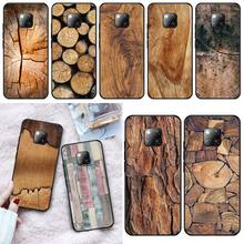 Wumeiyuan Wood Textures Coque Shell Phone Case For Huawei Mate 9 10 10Lite 20 20X 10Pro 20Pro 20Lite Enjoy 9Plus 10Plus natural wooden phone case for huawei mate rs maters case cover walnut rosewood black ice wood shell real wood