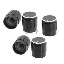 5 шт. черный металл 6 мм рифленый вал вставной диаметр. Управление с помощью потенциометра ручки