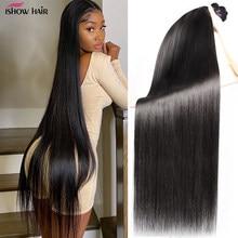 Ishow Haar Peruaanse Steil Haar Weave Bundels Human Hair Extensions Dubbele Inslag Haar Bundels Niet-Remy 1 Stuk Bundels deal