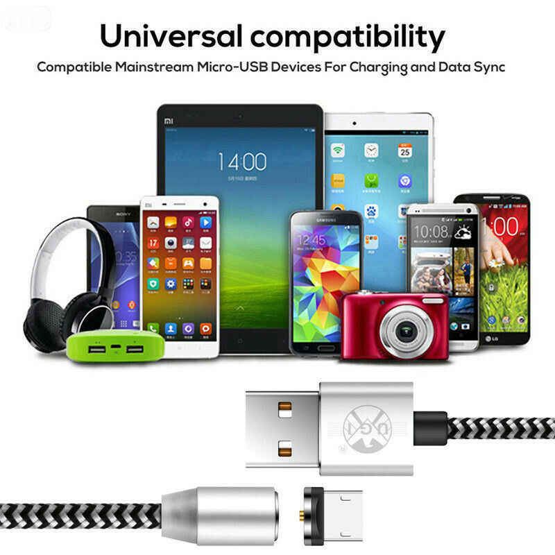 Magnetic Charger Kabel USB Kabel Micro USB untuk Samsung Htc Lg iPhone XR X MAX X PRO 8 7 6 6S 5 Plus Magnet Charger