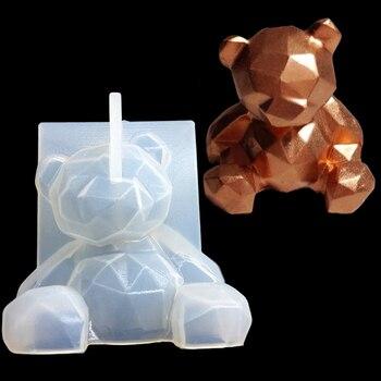 3D Bear Unicorn Horn Christmas Deer Tree Cat Loving Heart Lion Wolf Duck Silicone Sugarcraft Mold Fondant Cake Decorating Tools