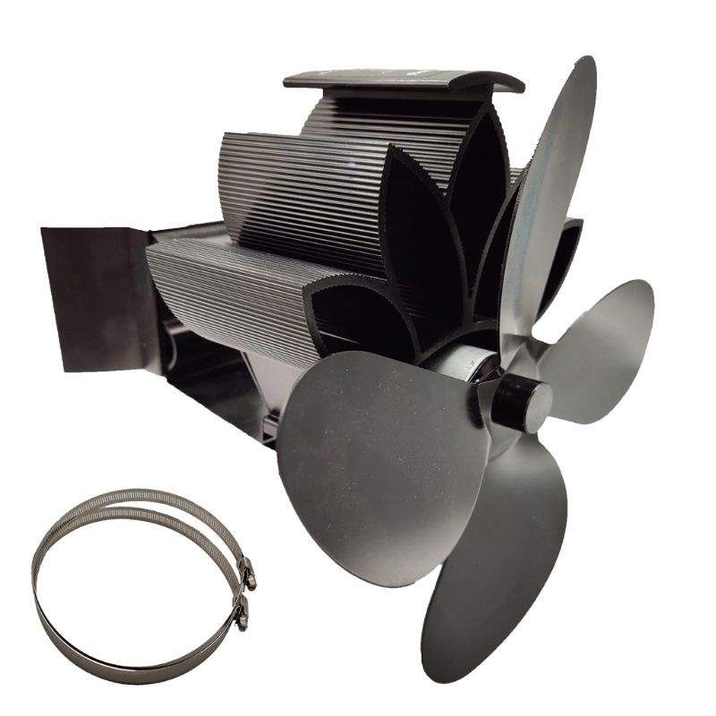 4 Blades Heat Powered Fireplace Stove Hanging Fireplace Fan