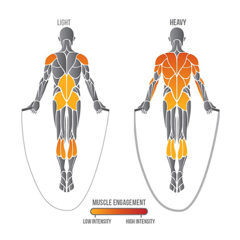 25 millimetri di Fitness Heavy Jump Rope Crossfit Ponderata Battaglia Corde Per Saltare Power Training Migliorare