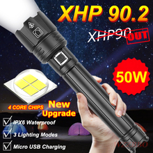2020 NEW XHP90.2 Ultra Powerful 18650 LED Flashlight XLamp USB Rechargeable XHP90 Tactical Light 26650 Zoomable Camp Torch