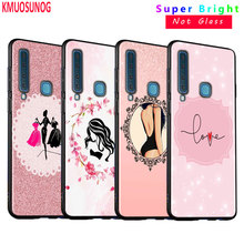 Black Silicone Cover Love Beauty Pink girl for Samsung Galaxy A8S A9 A7 2018 A8 A6 Plus A5 A3 Star 2018 2017 Phone Case silicone phone case army camo camouflage for samsung galaxy a8s a6s a9 a8 star a7 a6 a5 a3 plus 2018 2017 2016 cover