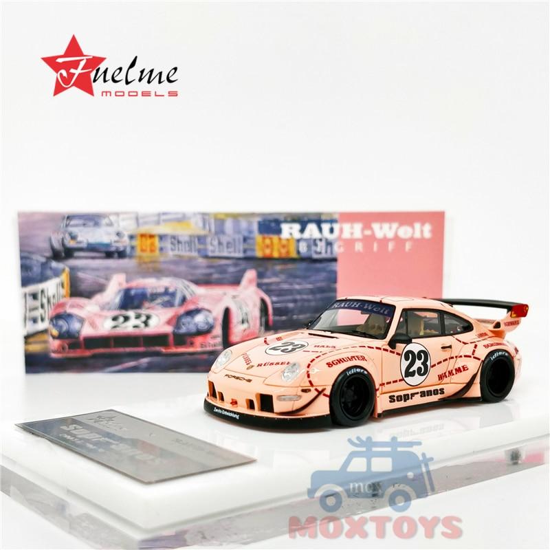 Timothy Pierre TP 1:64 Porsche RWB 993 Sopranos Pink Pig Resin Car