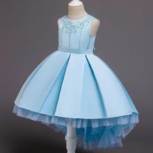 New pattern  girl dress princess Wedding presiding children Trailing Birthday party wedding dresses
