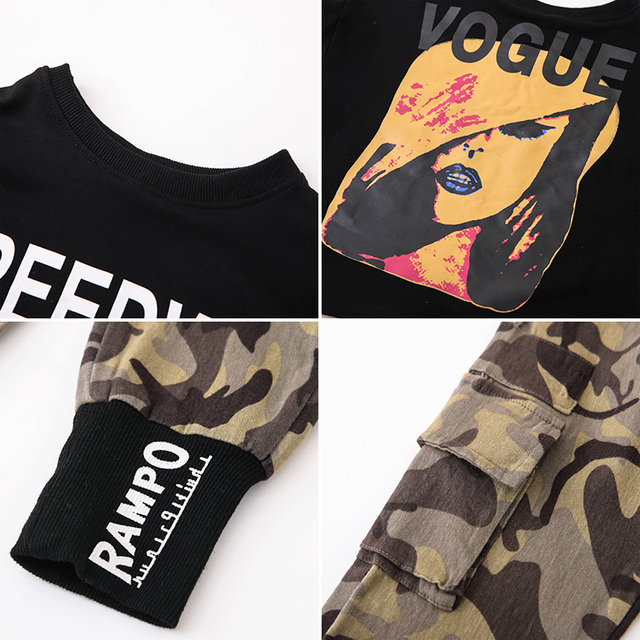 Girls Camouflage Outfit Set  3