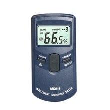 Md918 Inductive Wood Timber Moisture Meter Hygrometer Digital Electrical Tester Measuring Tool 4~80% Density Electromanetic