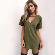Women Fashion V-neck Solid hollow Elegant Straigth Green Dress Spring Loose Mini Dresses Short Sleeve comfortable Plus Size