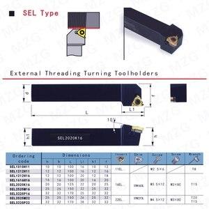 Image 4 - MOSASK SEL Metallo Girare Cutter Gambo Filettato SEL1616H16 Filo Inserti Tornio CNC Threading Tools Titolari
