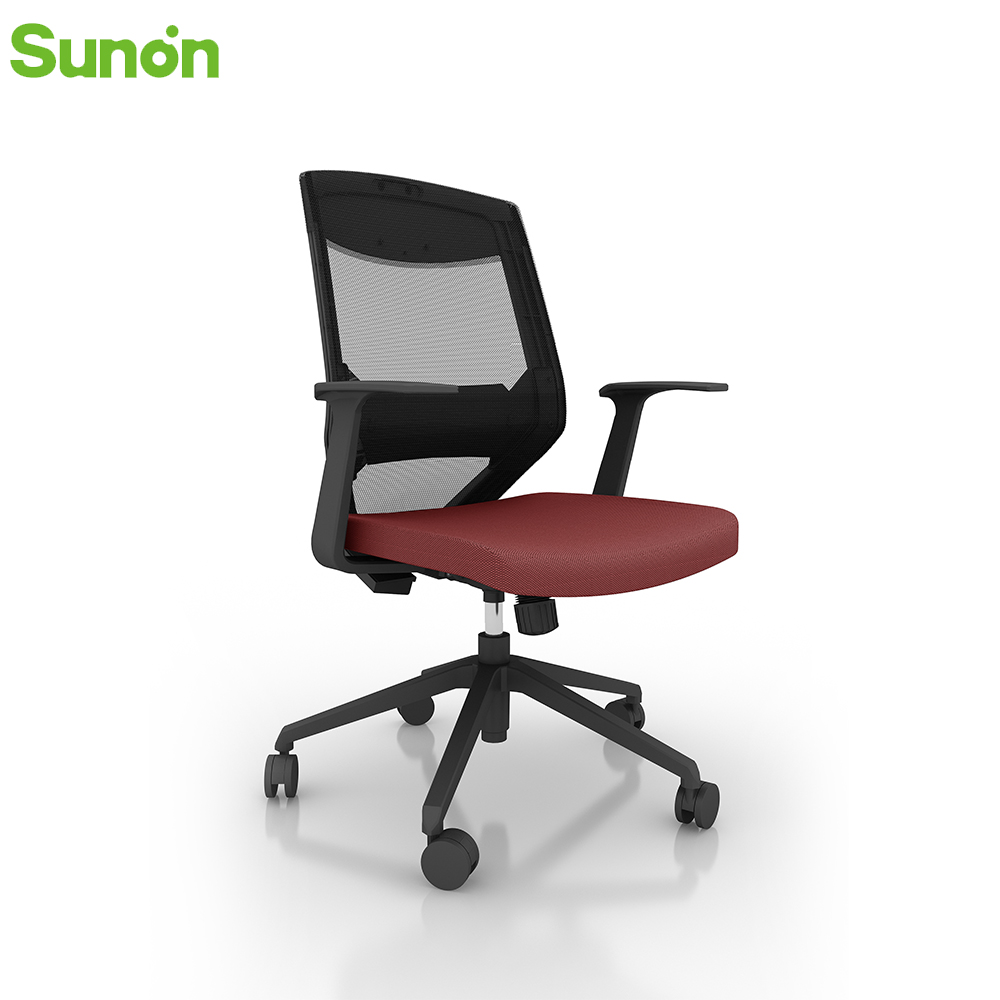 High Quality Office Game Chair Staff Chair Material Mesh And Fabric Swivel Adjustable Seat