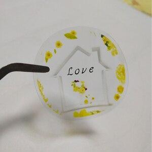 Image 5 - הדפסה אישית לוגו תווית מותאם אישית שקוף מדבקות PVC ויניל נייר KraftPaper עוגת מדבקת ריסים תוויות מותג