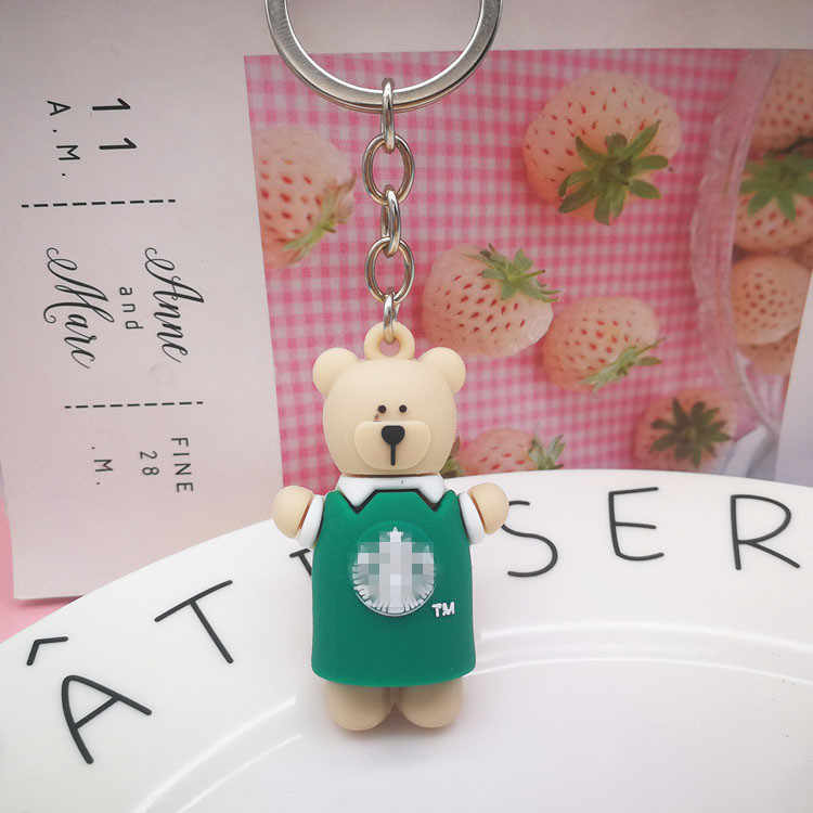 Creative Cartoon Bear porte-clés mignon Animal ours pendentif porte-clés mignon fille PVC ours poupée porte-clés pour sac voiture porte-clés cadeaux