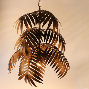 Image 5 - لوفت آرت ديكو شجرة جوز الهند نجفة مزودة بإضاءات ليد E27 الحديثة الإبداعية مصباح معلق لغرفة المعيشة مطعم غرفة نوم اللوبي فندق بار