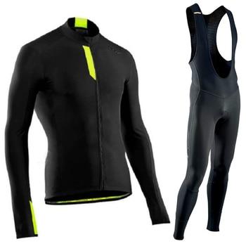 Conjunto de jersey de ciclismo de manga larga de otoño 2020 Northwave,...