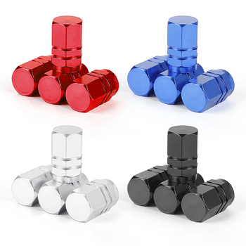 4pcs Car Tire Valve Stem Caps Bolt-in Aluminum Theftproof Valve Caps Car Wheel Tires Valves Tyre Stem Air Caps Auto Replacement image