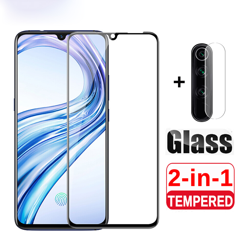 2 In 1 Tempered Glass For Xiaomi Redmi Note 8 Pro Camera Protective Glass On For Redmi Note 8T Mi 7  Phone Film Screen Protector
