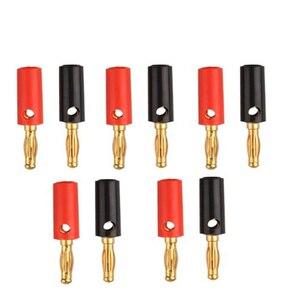 Chaud 100 pièces rouge + noir cuivre 4mm banane femelle isolé prise Jack connecteur pour 4mm mâle Non isolé banane connecteur