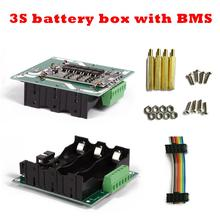 3S battery box 3S BMS 12V li-ion battery Li-ion Lithium 18650 Battery Pack BMS PCB board Power Wall 12V battery DIY 3s 80a 100a pcm pcb bms for 12v 18650 lithium battery pack for electric bicycle and scooter and tools back up solar energy
