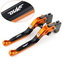 купить Brake Clutch Levers For KTM 125 200 390 DUKE 2013 2014 2015 Motorcycle Brake Levers Foldable Extendable CNC Adjustable Aluminum по цене 1690.81 рублей