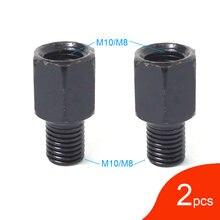 Para czarne lusterko motocyklowe adaptery M10 10MM M8 8MM lusterka wsteczne konwersja śruby zgodnie z ruchem wskazówek zegara prawy lewy gwint