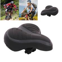 Komfort szeroki duże Bum rower żel Cruiser dodatkowe sportowy miękka podkładka pod siodło siedzenia miękkie siodełka rowerowego zagęścić szeroki rower tanie tanio ISHOWTIENDA Road Bicycles Z powrotem mata do siedzenia Imitation Leather 25cm x 20cm