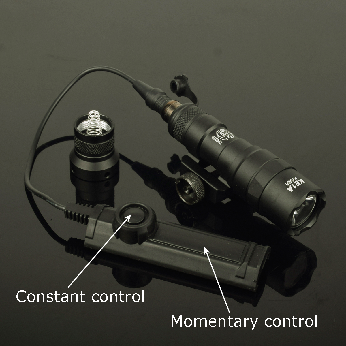 Tactical M300 M300B MINI Scout Light Rifle Hunting Flashlight 400 Lumen Weapon Light LED Lanterna With Dual Function Tail Switch