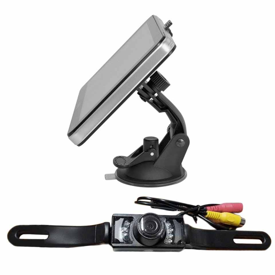 プロ 7 ''車のトラックの Gps ナビゲーション米国地図ワイヤレスバックミラーカメラ Bluetooth 4 ギガバイト自動車車- スタイリングホット