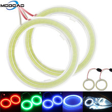 COB Car Angel Eyes Led Halo Ring Bulb Lights SHEELL Angel Eyes Fog Headlight Car Auto Moto Moped Scooter Motorcycle DC 12V(China)