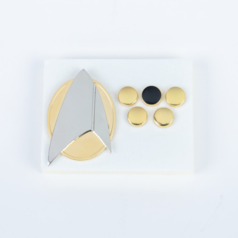 Star Picard Combadge Rank Pips Brooch Trek Command Science Engineering Pin Badge Accessories Halloween Party Prop A Set