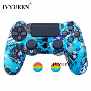 Image 5 - IVYUEEN 25 Colors Silicone Skin Case for Playstation Dualshock 4 PS4 Pro Slim Controller Protective Cover Thumb Joystick Grips
