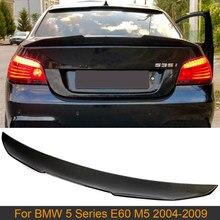 Dla E60 M5 samochód tylne skrzydło spoilera dla BMW serii 5 E60 M5 2004 - 2009 z włókna węglowego tylny klapa bagażnika wargi spojler skrzydłowy