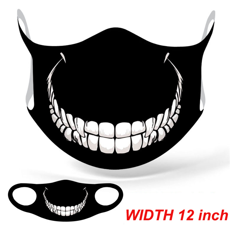 Marvel Superhero Venom Big Mouth Face Mask Adult Windproof Anti Dust Reusable Mouth Mask Washable Halloween Cosplay Face Mask 4