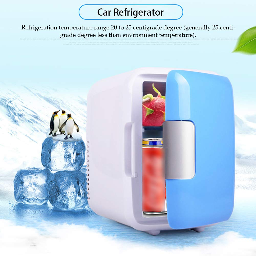 4L Mini Home Refrigerator Fridge Small Portable Dual-use Electric Cooler Freezer Refrigerators 220V/12V Home Fridges