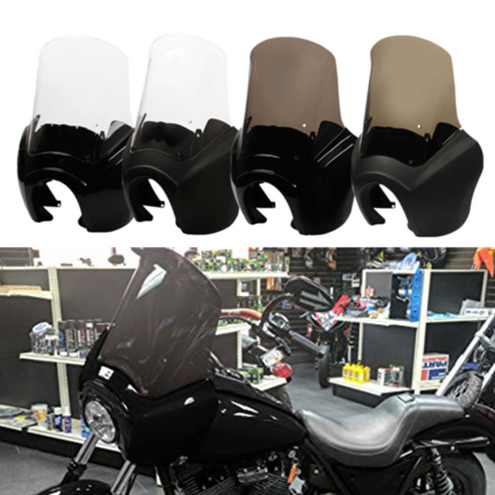 Motorcycle Front Fairing W/ 15'' Windshield Windscreen For Harley Dyna Wide Glide 2006-2017