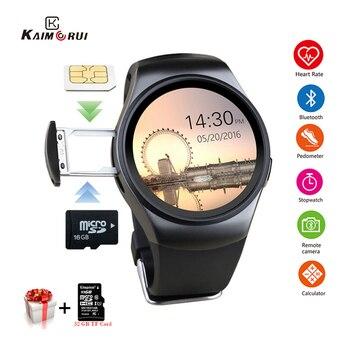 Kaimorui KW18 Bluetooth Smart Horloge Sim-kaart Hartslag Tf Card Mannen Sport Horloge Telefoon Smartwatch Voor Xiaomi Huawei Ios telefoon